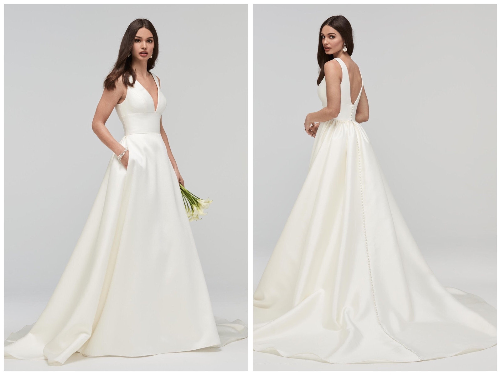 Wedding dress shops, beautiful designer bridal gowns from Europe's top fashion houses. Many available to view. The Wedding Shop Colchester, Essex.