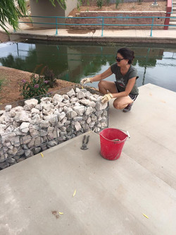 dianna with gabions