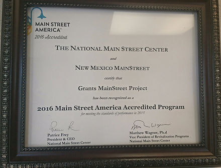 2016 MainStreet America Accredited