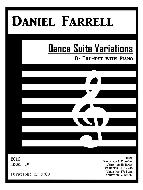 Dance Suite Variations - Bb Trumpet with Piano (Op. 10)