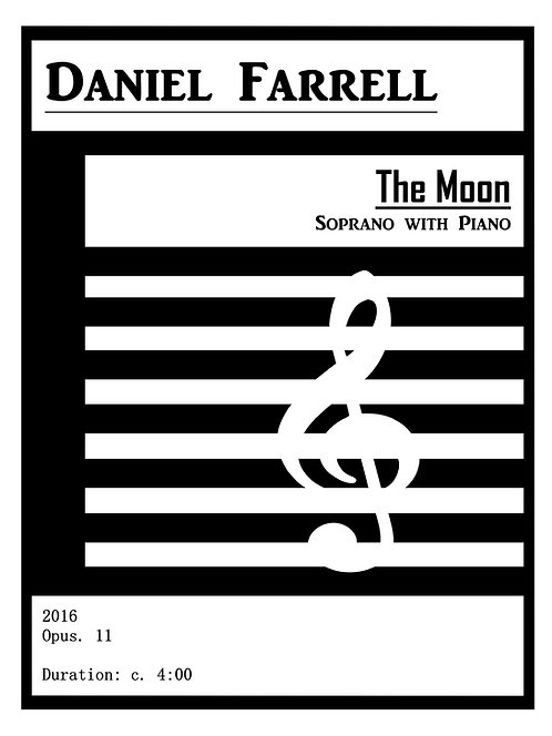The Moon - Soprano with Piano (Op. 11)