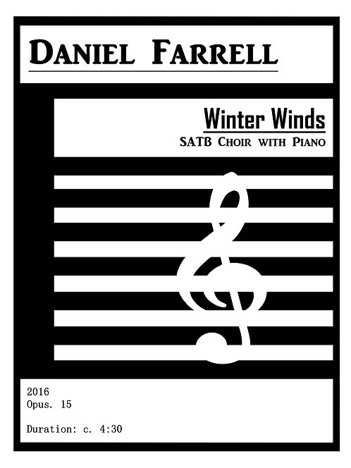 Winter Winds - SATB Choir with Piano (Op. 15)