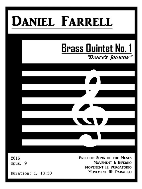 "Brass Quintet No. 1 ""Dante's Journey"" - (Op. 9)"