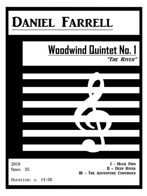 "Woodwind Quintet No. 1 ""The River"" - (Op. 25)"