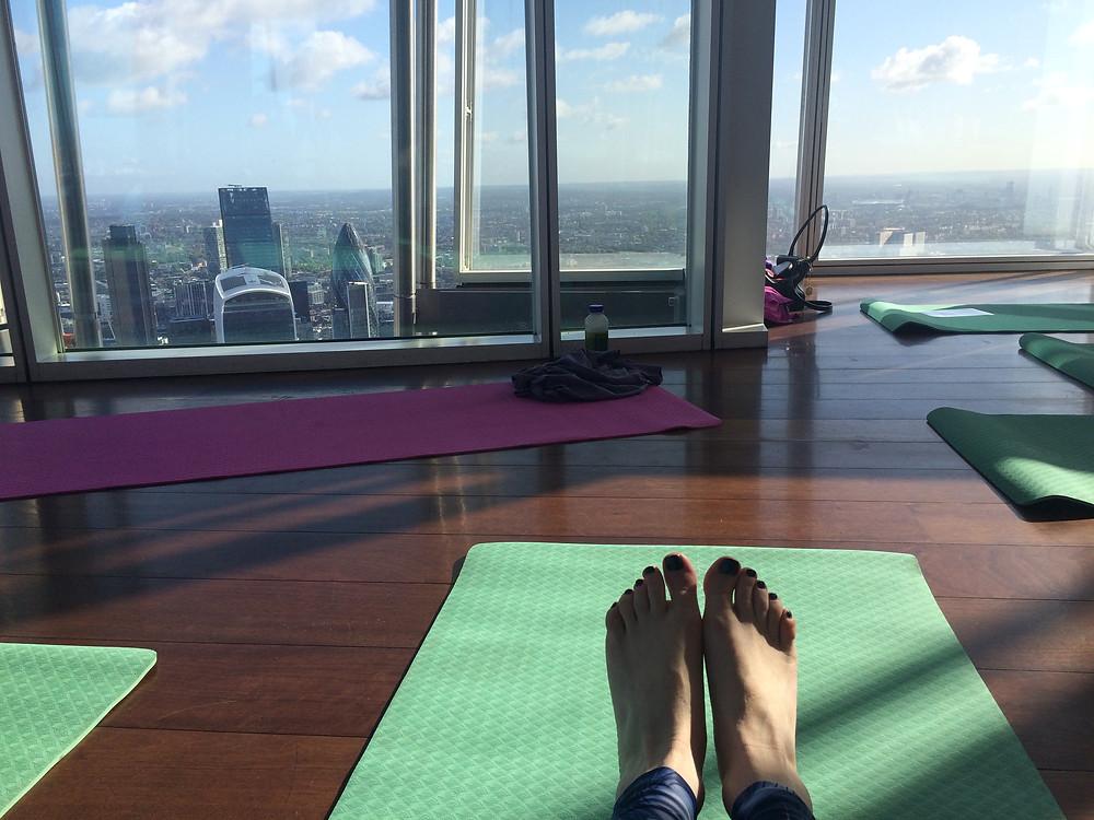 Yogasphere at The Shard, London, yoga