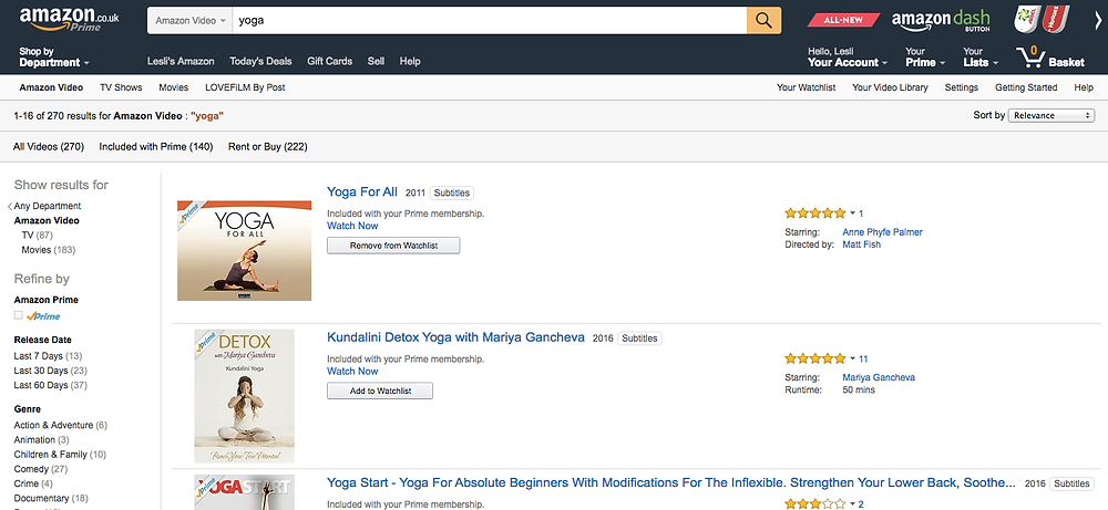 yoga challenge amazon video prime