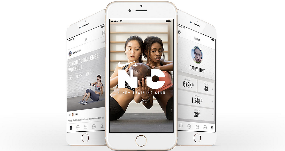 Nike+ Training Centre fitness app iphone