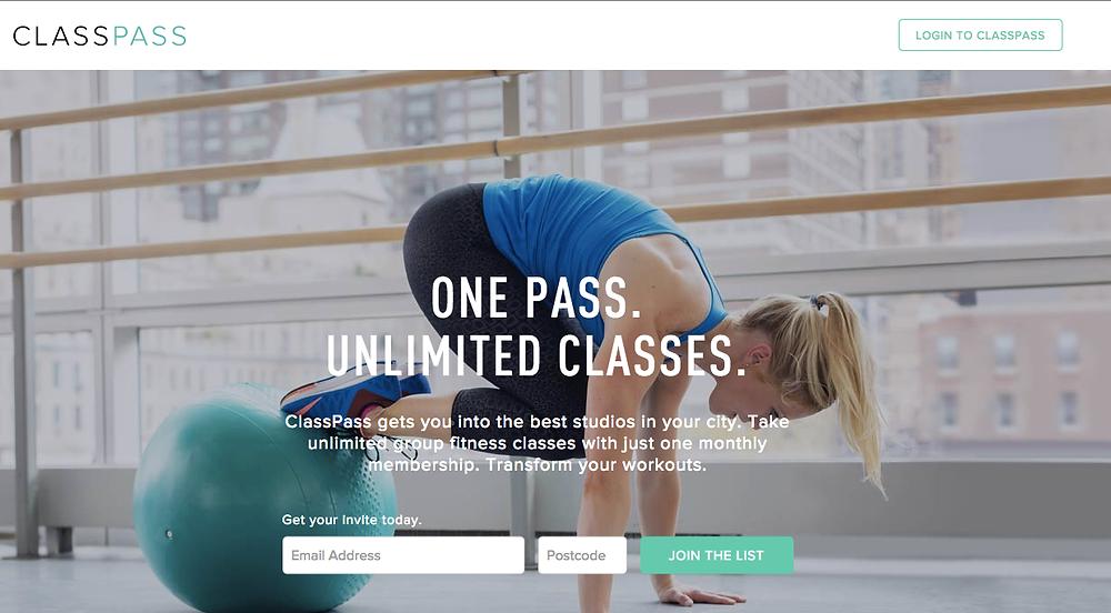 ClassPass, London, fitness, membership