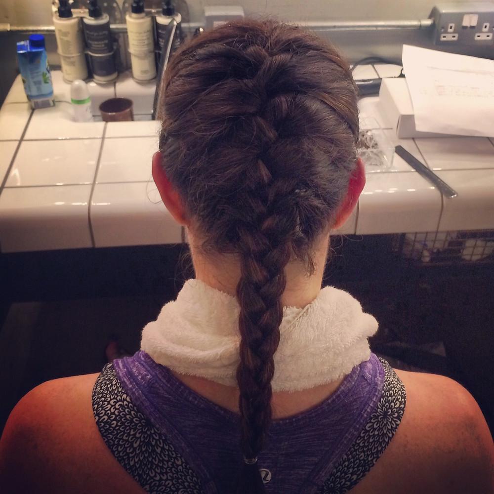 braid, braid bar, hershesons, post-workout hair