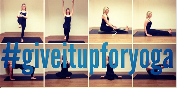 #giveitupforyoga, yoga, Instagram Challenge