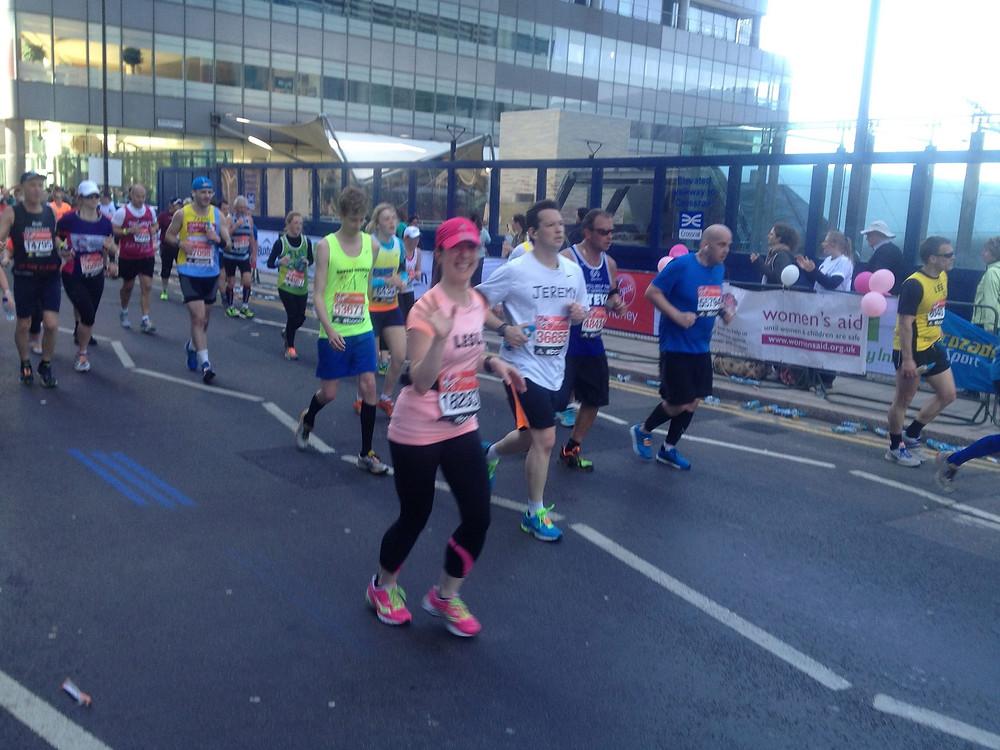 London Marathon, running, Canary Wharf