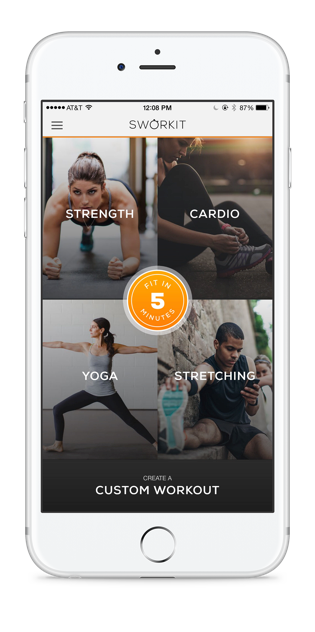 Sworkit, workout app, fitness