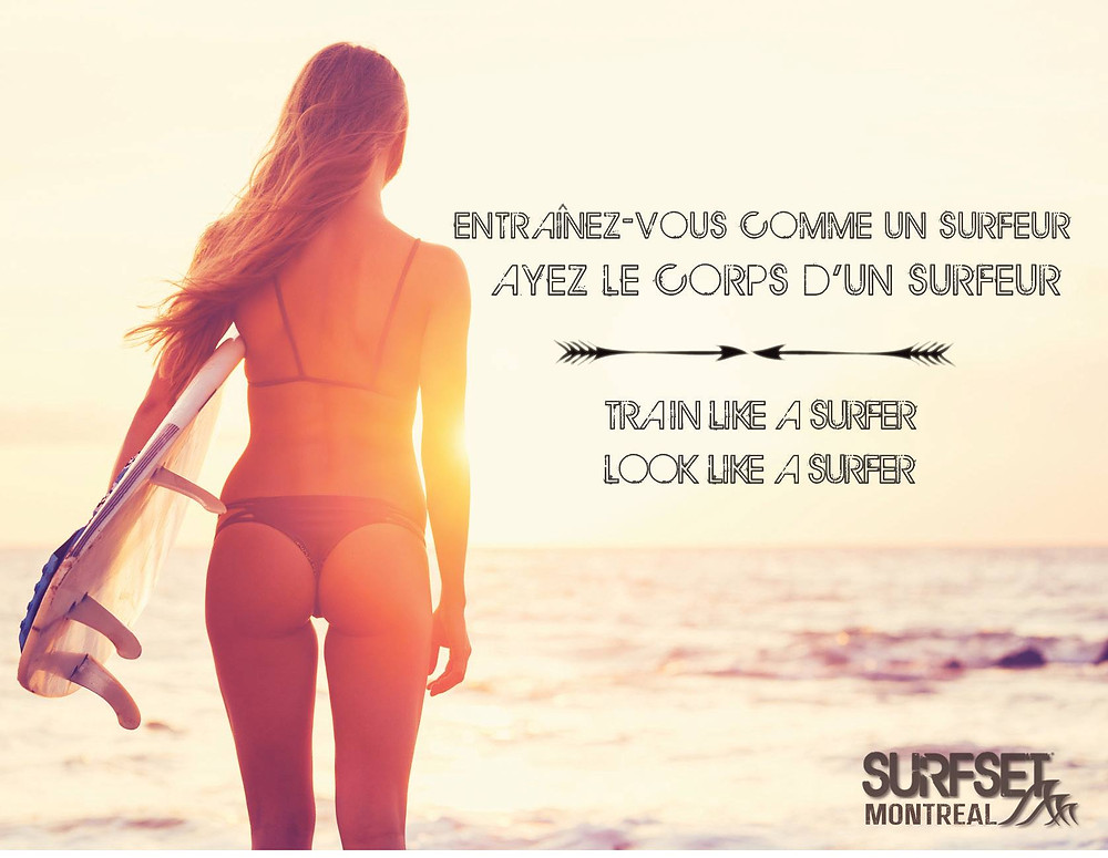 Surfset Montreal, surf, fitness, bikini bod