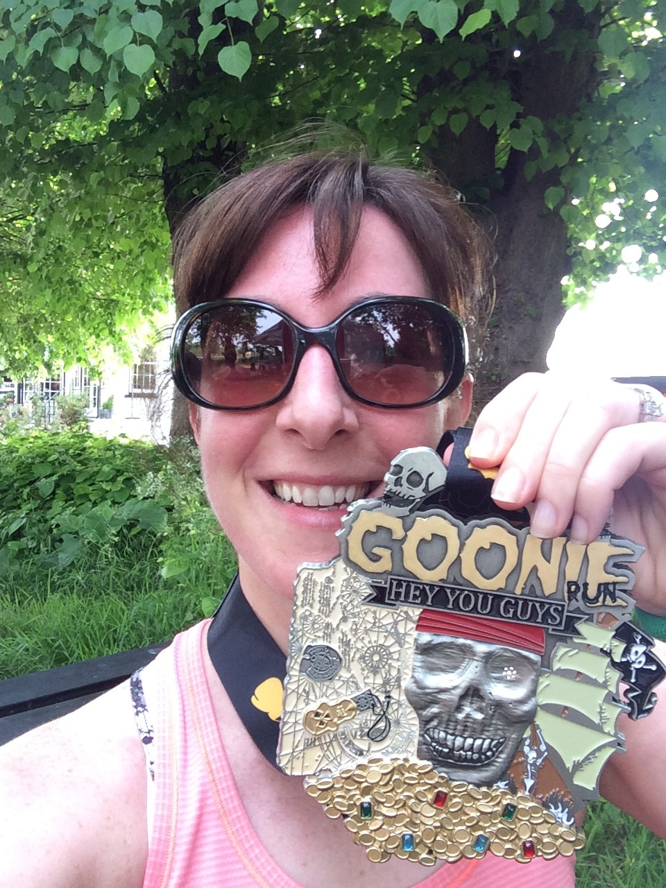 Goonie Run, finisher medal, running, fitness