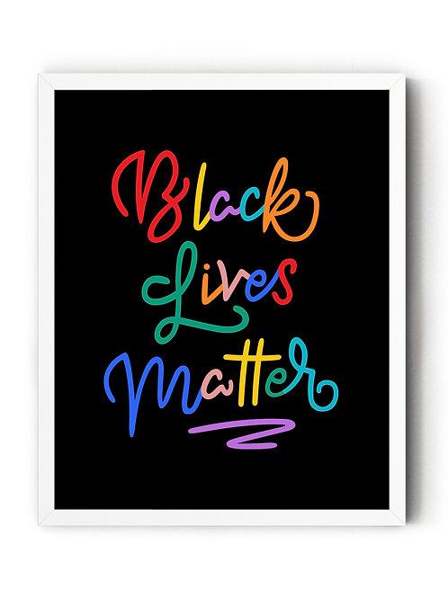 Black Lives Matter Color [DIGITAL POSTER]