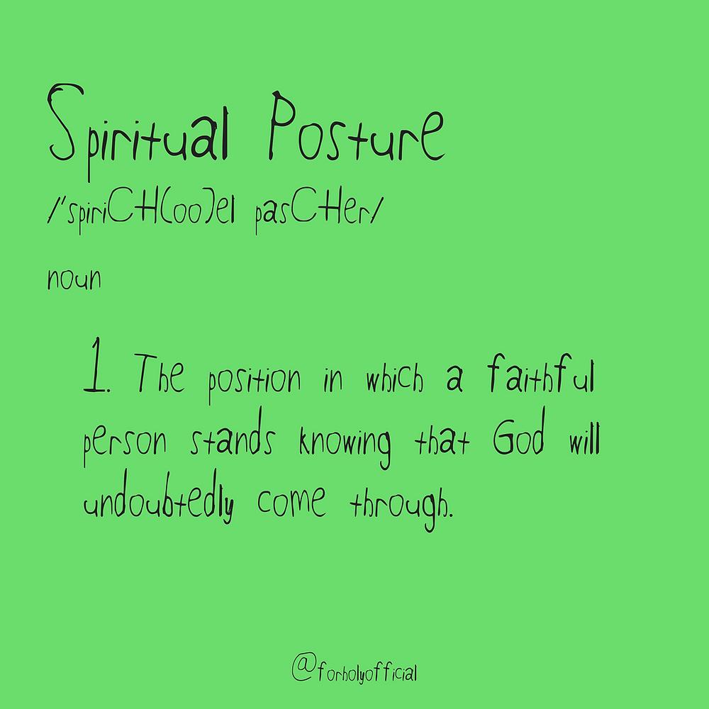 spiritual posture