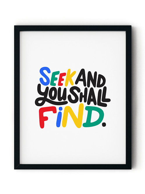 Seek and You Shall Find Poster