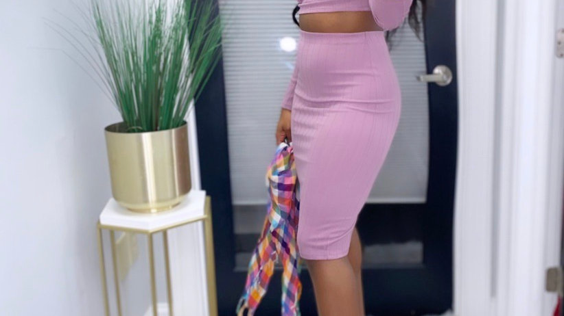 Snatch Me Pink Two Piece Set