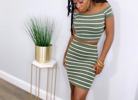 Cash Me out Crop skirt Set