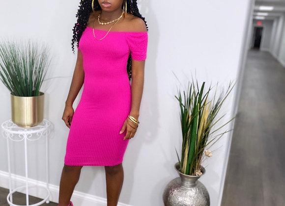 Be Good Lola Hot Pink Dress