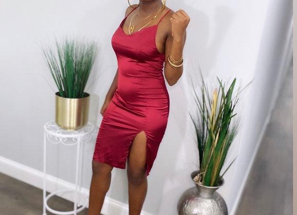 Overnight Red Silk Dress
