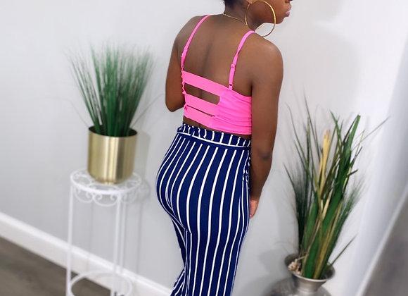 Baby Doll Navy Stripe Pants