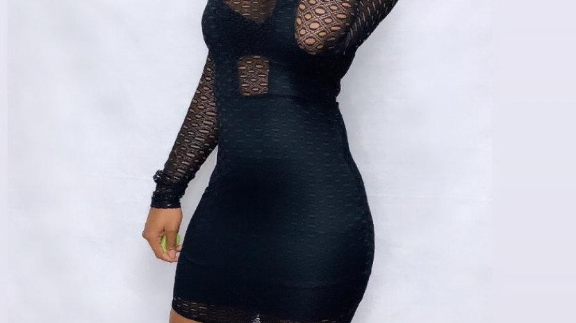 Black Sheer Robin Dress