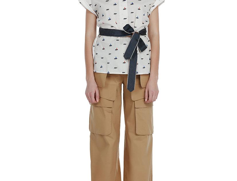 Grosgrain Belted Shirt