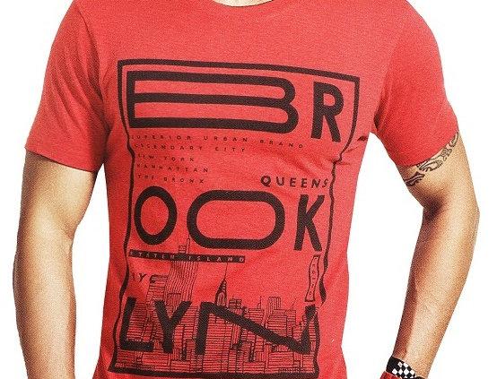 Mens Hosiery Printed Men Tshirts (Red, S)