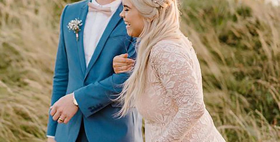 Curve & Plus Size Off-The-Shoulder Blush Dress #1119
