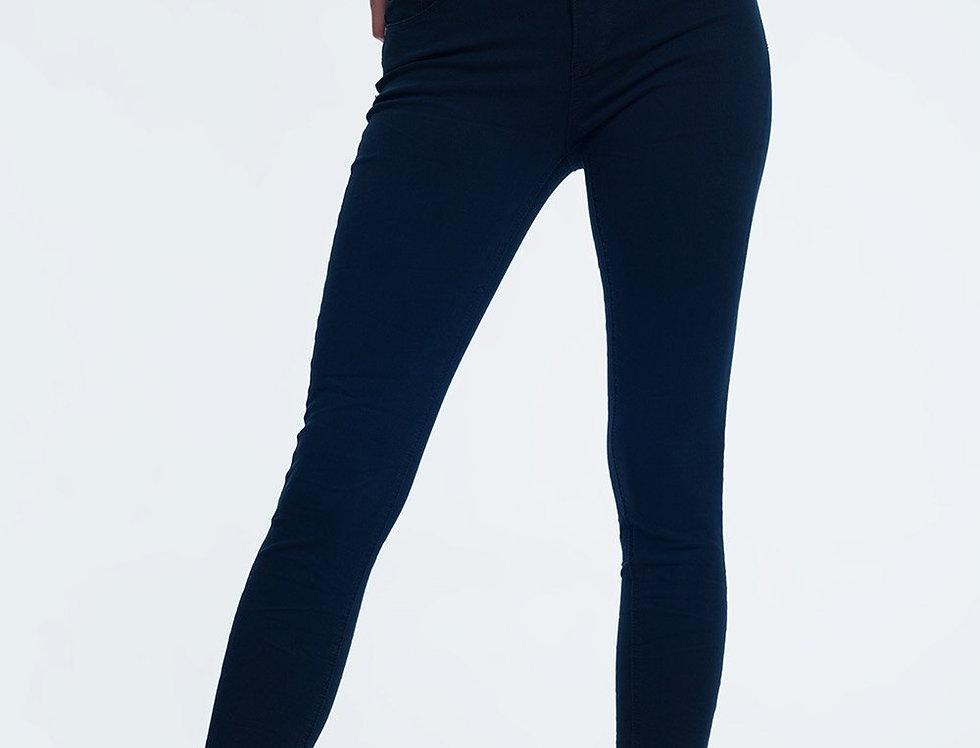 High Waist Skinny Jeans in Navy