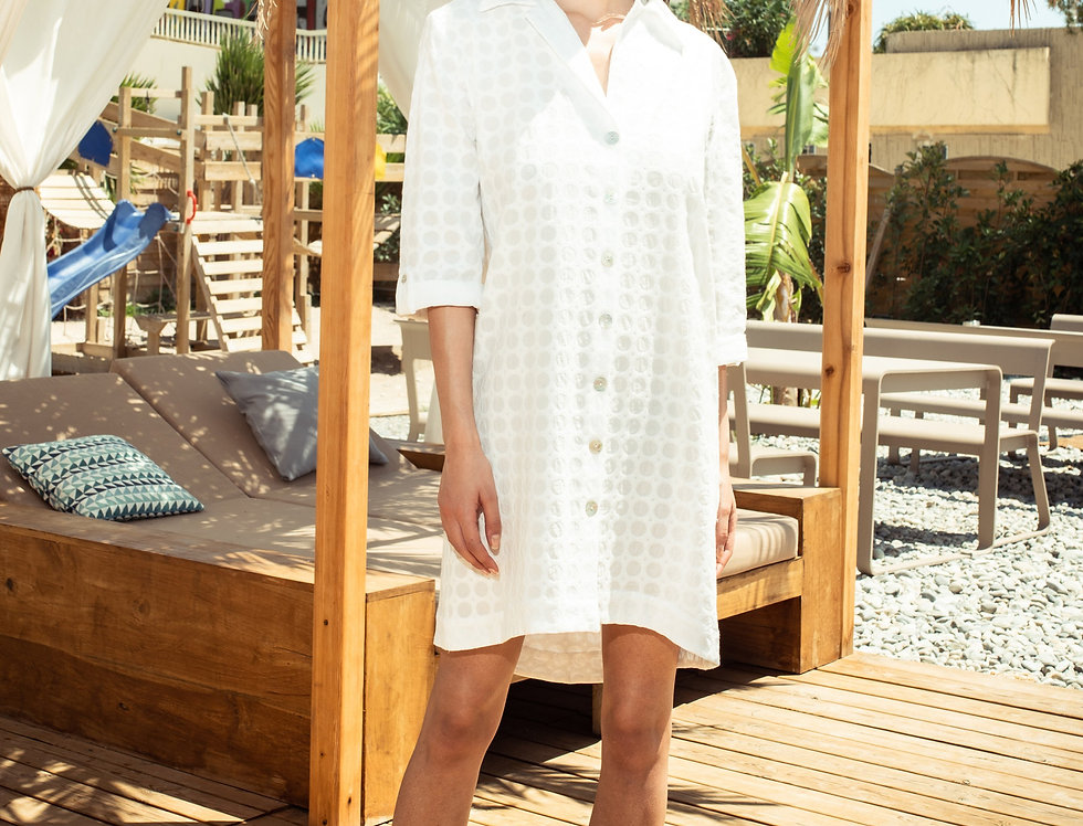 Storge White Cotton Shirt Dress