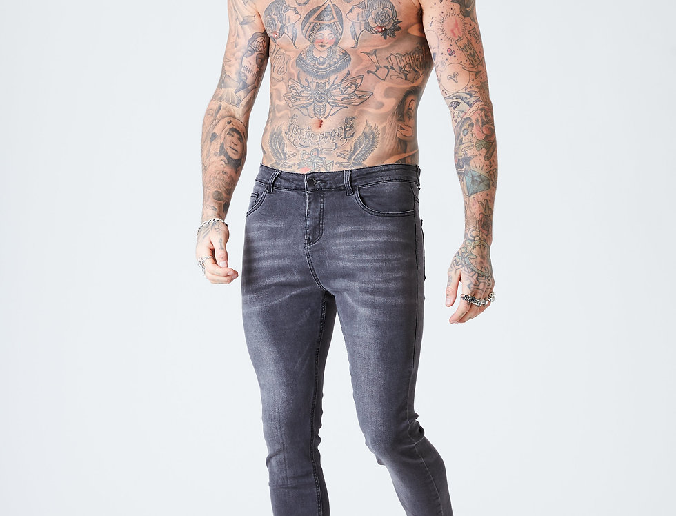 Super Skinny Spray on Jeans - Grey