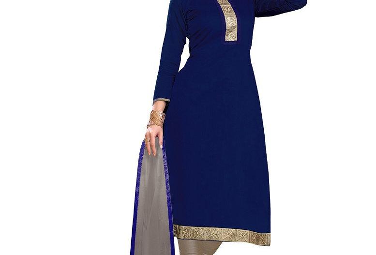 Navy Blue Dress Material
