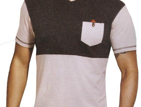 Mens Hosiery Solid Men Tshirts (Dark Grey, White, M)
