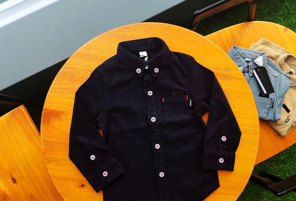 Kids Button Up Shirt Black