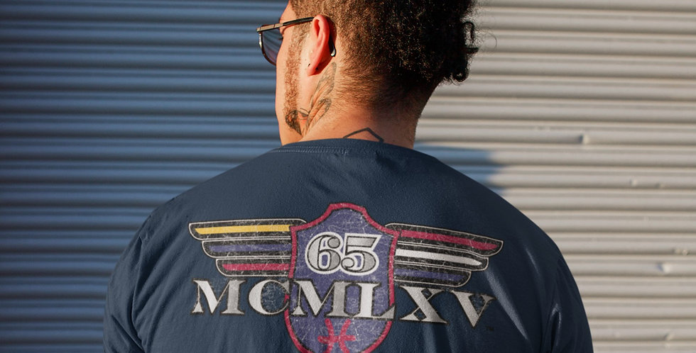 65 McMlxv Men's Vintage Logo Graphic T-Shirt in Navy
