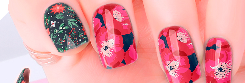 Poinsettia Nail Wraps