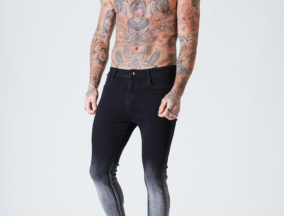 Spray on Skinny Jeans - Black Dip Fade