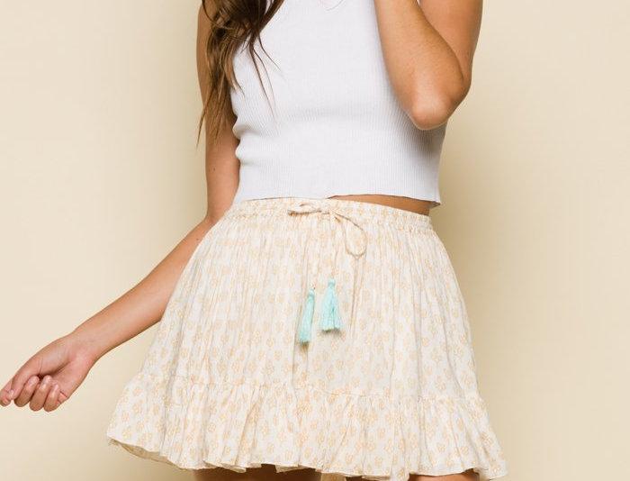 Gold Gypsy Ruffle Skirt