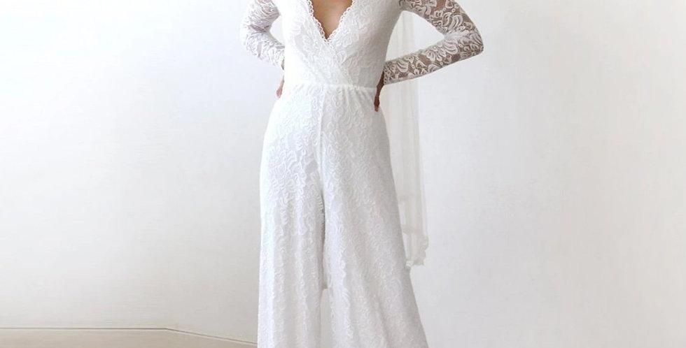 Ivory Wedding Lace Jumpsuit #1169