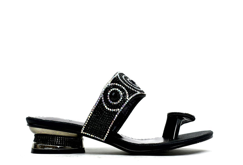 Indian Style Toe Post Sandal Black