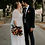 Thumbnail: Curve & Plus Size Ivory Bat Sleeves Wedding Dress #1044