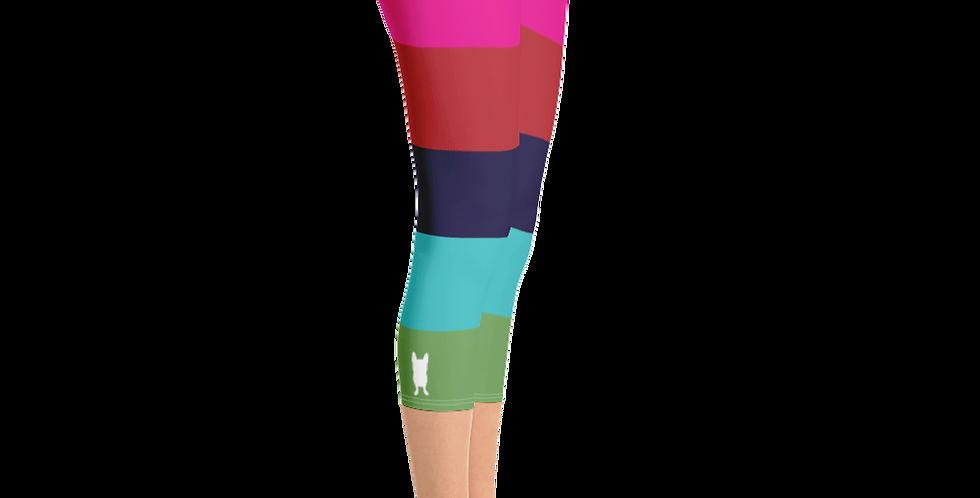 Rainbow Stripe Capri Leggings
