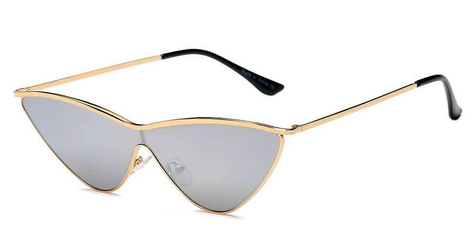 FONTANA | S2067 - Women Metal Cat Eye Sunglasses