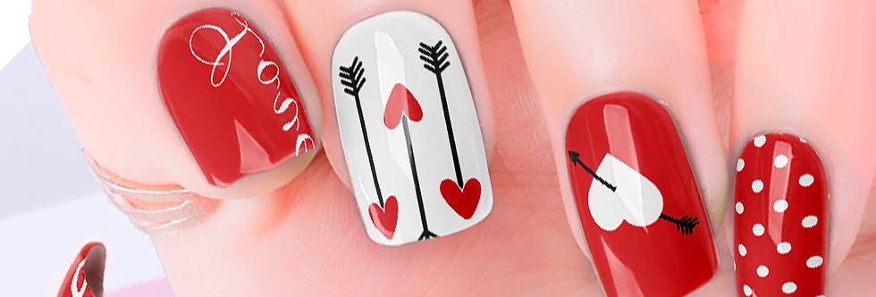 Heart Arrow Nail Wraps