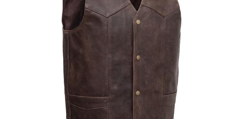 MKL - Texan Men's Motorcycle Western Style Leather Vest