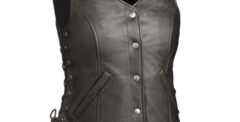 MKL - Honey Badger Women's Motorcycle Leather Vest