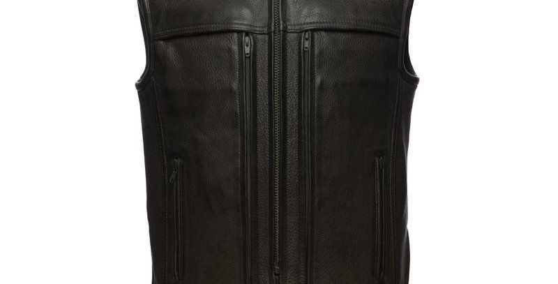 MKL - Rampage Men's Motorcycle Leather Vest