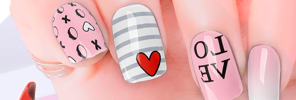 Love Heart Nail Wraps